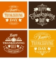 Typographic Thanksgiving Design Set vector image