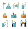 People Cooking Set vector image