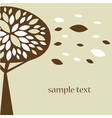 Abstract tree autumn background vector image vector image
