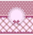 beautiful background with a cloth napkin and bow vector image