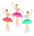 beautiful prima ballerina in the croise pose vector image