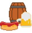 Beer Pixel-art or 8-bit style vector image