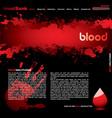 blood web vector image