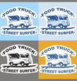 food truck stickers vector image