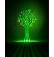 green circuit tree vector image
