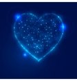 Love heart background from beautiful bright stars vector image