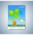 Modern template layout brochure magazine flyer vector image