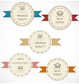 Vintage labels collection vector image vector image