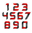 3d Number set logo with speed red and black Design vector image