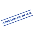 Assembled In US Watermark Stamp vector image
