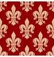 French floral seamless fleur-de-lis pattern vector image
