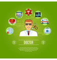 Doctor Concept Icons Set vector image