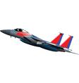 Jet fighter plane vector image vector image