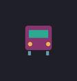 Bus computer symbol vector image