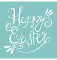 easter wording on blue background vector image