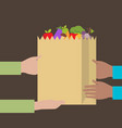 flat design colorful concept for grocery delivery vector image