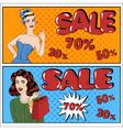Sale Banner Seasonal Sale Great Discount vector image