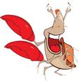 Cute Crab Cartoon Character vector image