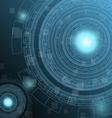 Abstract dark green technology futuristic vector image