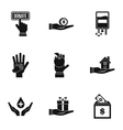 Patronage icons set simple style vector image