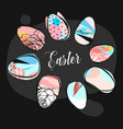 hand drawn abstract creative easter vector image