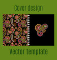 cover design with paisley pattern vector image