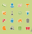 cleaning company icon set vector image