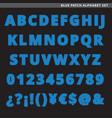 blue patch alphabet set vector image