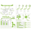 INFOGRAPHIC DEMOGRAPHICS 4 GREEN vector image