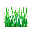 green field grass icon realistic style vector image