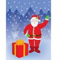 Santa standing at present vector image vector image