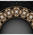 Gold jewelry background vector image