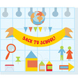 Back to school set with flat style icons vector image