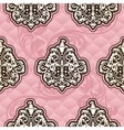 Seamless Rococo floral in pink vector image vector image