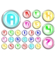 buttons alphabet vector image