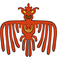red bird pattern vector image