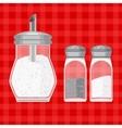 sugar salt and pepper vector image