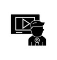 video marketing - video channel - news icon vector image