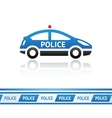 Police car police tape vector image vector image