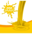 Yellow orange mango juice vector image