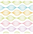Colorful horizontal ogee seamless pattern vector image vector image