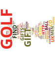golf gadgets at wwwfind me a giftcouk text vector image