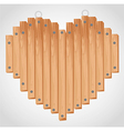 heart wood board with grommets for hanging vector image