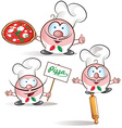 italian chef set vector image vector image