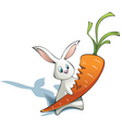 new year rabbit with carrot vector image