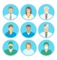 Medical clinic staff flat avatars vector image