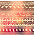 Aztec tribal pattern in stripes vector image