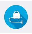 Vacuum cleaner hoover icon Home equipment vector image