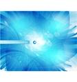 blue circle card abstract water vector image