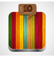 Wooden app icon vector image